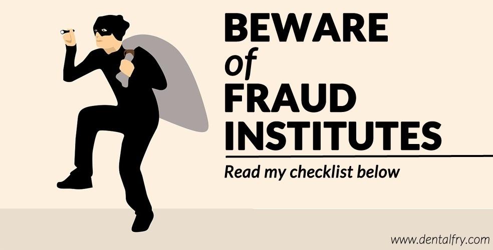 Beware of fraud institutes